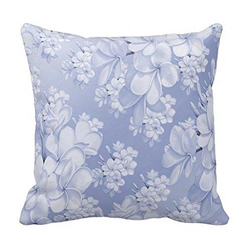 Blau Blume Muster, Kissen Sham für Sofa Überwurf Kissen Dekorative Sitzkissen Outdoor, abdeckt, Leinwand Accent Kissen 45,7x 45,7cm -
