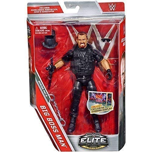 WWE serie Elite 47 Action Figure - The Big Boss Uomo W/ Attitude Epoca Accessori Neri