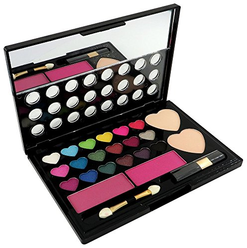 shoecom professional 18 Color Eyeshadow 2 Blush 2 face powder 2 Brush + Mirror