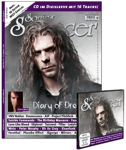 Sonic Seducer 09-11 inkl. Gothic Fetisch Kalender 2012 im Großformat + WGT-Special + Cold Hands Seduction-CD im Digisleeve; Bands: Diary Of Dreams ... Evanescence, Project Pitchfork, ASP uvm.