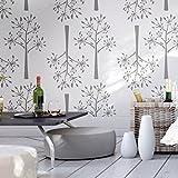 Dillmuster dekorative Wandschablone - Schablonen für wände - Maler Schablonen