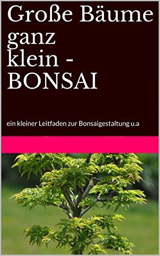 Große Bäume ganz klein - BONSAI: ein kleiner Leitfaden zur Bonsaigestaltung u.a