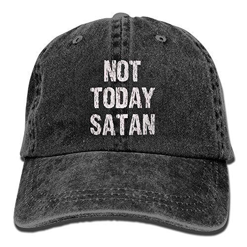 Xdevrbk Not Today Satan Adult Individuality Cowboy Cap (Baby Satan Kostüm)