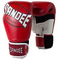Sandee Niño Guantes Boxeo Tailandés Muay - Rojo - Rojo, 6oz