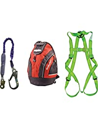 Precise Engineered Scan Fall Arrest Scaffolders Safety Harness Kit in Rucksack [Pack of 1] - w/3yr Rescu3® Warranty
