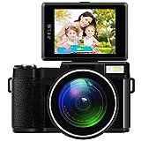 Hanbaili 4X Zoom Full HD Digital Camera, G36 Digital Camera Full HD 1080P Camcorder 24MP Vlogging Camera DVR Recorder