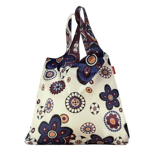 Reisenthel Mini Maxi Shopper, Borsa per la Spesa, Shopping Bag, marigold / fantasia a fiori colorati, AT3008