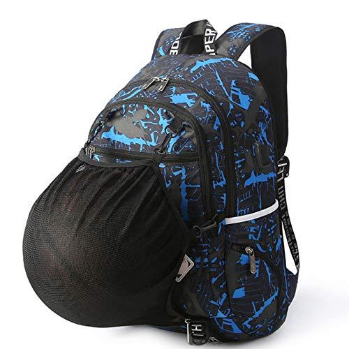 FJYBOA Rucksack Outdoor Men's Sports Gym Bags Basketball Backpack School Bags for Teenager Boys Soccer Ball Pack Laptop Bag Football
