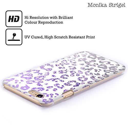 Offizielle Monika Strigel Mint Tier Glitzer Druck Ruckseite Hülle für Apple iPhone 3G / 3GS Purpur Rot
