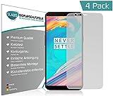 4 x Slabo Bildschirmschutzfolie für OnePlus 5T Bildschirmfolie Schutzfolie Folie Zubehör (verkleinerte Folien, aufgr& der Wölbung des Bildschirms)