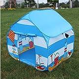 EBTOOLS Tenda Casetta Gioco per Bambini, Tenda da Gioco per Bambine Pop-UP, in Poliestere Ecologico, Pieghevole, Colore Blu