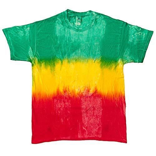 Colortone - Unisex Batik T-Shirt 'Swirl' / Montego Bay, 3XL - Bay-cocktail