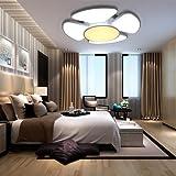 VINGO® 60W LED Decken Deckenleuchte Wand-Deckenleuchte Wohnzimmerlampe rund Beleuchtung Panel Badezimmer geeignet Modern Lampen Energiesparende Möbeleinbauleuchte IP44