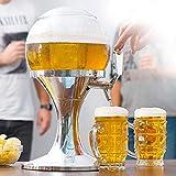 Dydaya DISPENSADOR & Tirador & Grifo DE Cerveza PORTATIL para CASA con Enfriador para Cerveza Fria & Heineken & Estrella & Cruzcampo & Mahou & Fagor - Barril & Bomba 3,5 L (3,5 litros)