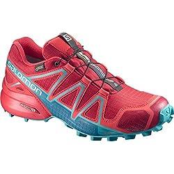 Salomon Speedcross 4 Gtx W, Zapatillas de Running Mujer, Rojo (Barbados Cherry/Poppy Red/Deep Lago), 38 2/3 EU