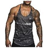 DOTBUY Tank Top Herren | Muskelshirt ideal für Sport Gym Fitness & Bodybuilding | Muscle Shirt Tanktop - Unterhemd - Achselshirt – Sportshirt (XL, Schneeflocke grau)