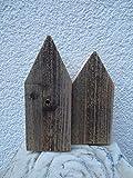 2 Holzhäuschen Holzhaus Dekohaus Vintage Alt-Holz Deko Holz Shabby