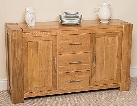 Kuba Solid Oak Large Sideboard/Cabinet, 140 x 42 x 82 cm
