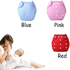 Ineffable® Quirk Reusable Baby Washable Cloth Diaper (Combo of 3pcs (RBP) WP)