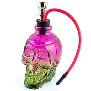 Formax420 Mini Portable 6 Height Tobacco Hookah Glass Shisha Hose Pipe (purple&green) by Formax420