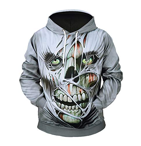 CTOOO 2018 Halloween Party Neue Kreative Horror 3D-Druck Paar Hoodies Sweatshirt Herren Damen Kapuzenpullover Loose Fit Pullover Tops Jacke