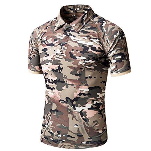 47825f48 TACVASEN Camo T Shirt Men Mountain Hunting Airsoft T-Shirt Quick Dry Short  Sleeve Polo