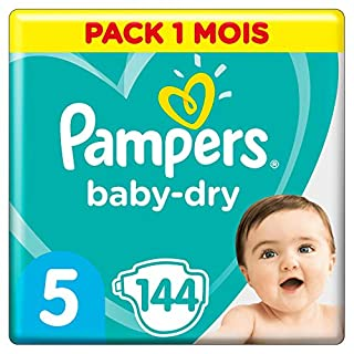 Pampers Baby Dry - Pañales para bebés, Talla 5 (11-16kg), 144 unidades (B00AR9HX3G) | Amazon price tracker / tracking, Amazon price history charts, Amazon price watches, Amazon price drop alerts
