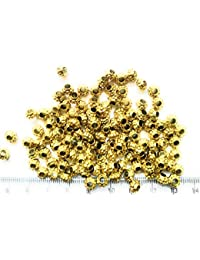 Matte Gold Finish Bead Balls For Jewellery Making, Craft Works, Pack Of 500 Nos