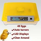 Euroeshop 48 Digital Automatic Chicken Egg Incubator Hatcher Supply Fully Egg Turning Temperature