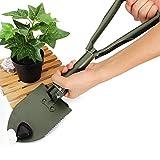 Tutoy Multifunktion Gartenarbeit Zusammenklappbar Schaufel Klappbare Schaufel Hof Werkzeug - Grün