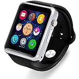 AmYin Bluetooth Android reloj teléfono con cámara A1B (Negro)