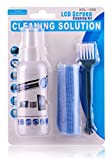 Protokart 3 in 1 Screen cleaning set for PC, Laptops, Monitors, Mobiles, LCD, LED, TV / Professional quality / Prevents static electricity, Original KCL-1005 screen cleaner, 100ml with micro fibre cloth and brush