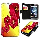 Book Style Wiko Birdy Premium PU-Leder Tasche Flip Brieftasche Handy Hülle mit Kartenfächer für Wiko Birdy - Design Flip SV58