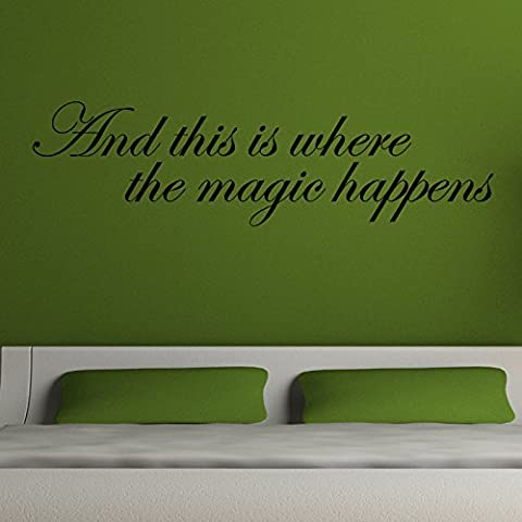 AND THIS IS WHERE THE MAGIC HAPPENS WALL STICKER... Words/QuotesAdesivi da parete / decalcomanie / trasferimenti / adesivi murali