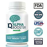 IQ Alpha Brain Booster Mind Clarity Nootropic - Best Natural Brain Function Support