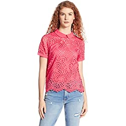 Vero Moda Women's Body Blouse Top (10163454_Rose of Sharon_M)