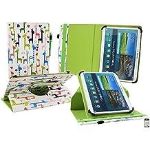 Emartbuy Woxter QX 109 Tableta PC 10.1 Pulgadas Universal ( 9 - 10 Pulgadas ) Multicolor Giraffe 360 Grados Giratorio Caso Cubrir Cover + Lápiz Óptico