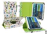 Emartbuy® Denver TAQ-90052 9 Zoll Tablet Universal (9-10 Zoll) Mehrfarbig Giraffe 360GradRotierendeStandFolioGeldbörseTascheHülle + Eingabestift