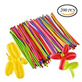 CCINEE 200pcs Classic Modelling Balloons Long Magic Balloons Party Supplies Decorations Assorted Colours