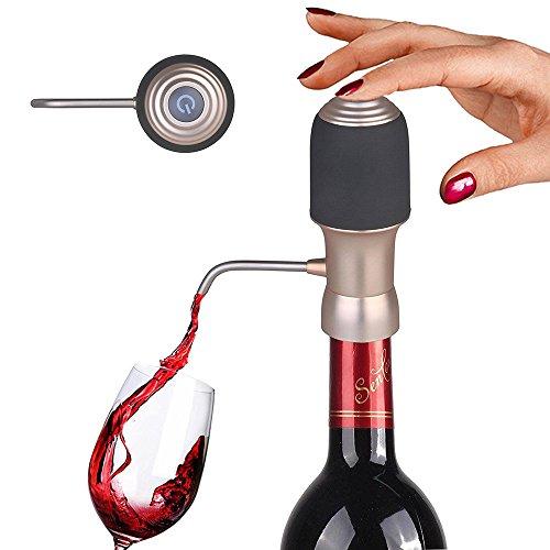 Elektrischer Wein Dekanter, Instant Belüfter Dispenser Pumpe, One-Touch Luxus Wein Zubehör,...