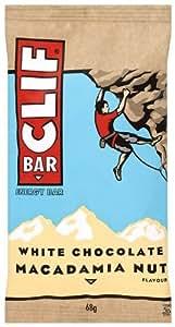 Clif White Chocolate Macadamia Bar 68 g (Pack of 12)