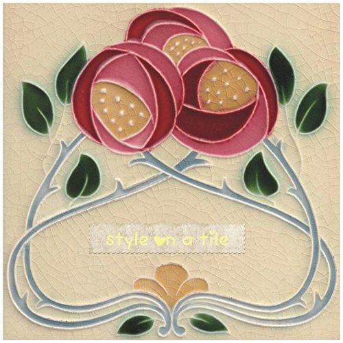 Eine reizende Kunst Nouveau Rennie Mackintosh Rosa Rote Rosen-Blume design 6