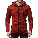 Hoodie Männer,Sannysis Herren Regular Fit Kapuzenpulli mit Reißverschluss aus mittelschwerer Baumwollmischung Sweatshirt Sweater