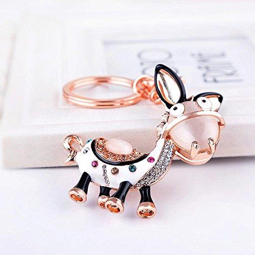 DU lijun Corea del Sud doni creativi opale borse portachiavi asinello squisito chiave dell'automobile cristallo di diamante ciondolo catena