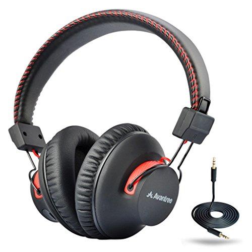 Avantree Cuffie Over Ear Bluetooth 4.0 autonomia di 40 ore/con microfono e con funzionamento anche con filo, tecnologia aptX HiFi, extra COMODA e LEGGERISSIMA, con NFC, DOPPIA MODALITA - Audition