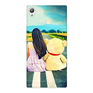 Stylish Girl Teddy Multicolor Back Case Cover for Sony Xperia Z3