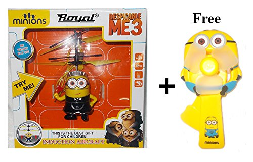 Mannat Collections Despicable Me Minion Toy Induction Infrared Censor Aircraft Toy Children Gift Helicopter Flying Minion by Mannat Collections