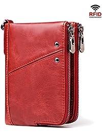 6e99ba0d3a841 Herren Brieftasche Gentleman s Anti-Theft Brush RFID Leder Wallet  Multifunktions-Doppel-Reißverschluss Vertikale