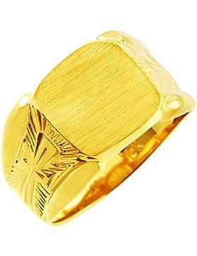 Kleine Schätze - Herren Ring / Verlobungsring / partnerring/ Ehering 10 Karat Herren Gold Protector Signet Siegelring...
