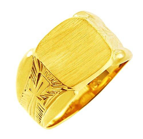 Kleine Schätze - Herren Ring / Verlobungsring / partnerring/ Ehering 10 Karat Herren Gold Protector Signet Siegelring Ring (Verlobungsring Protector)